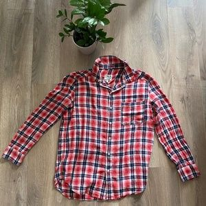 TNA Red Light Flannel Style Button Down Shirt